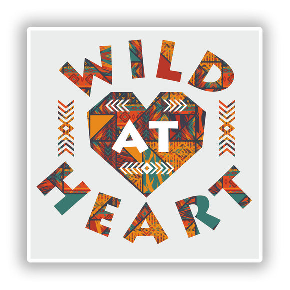 2 x Wild At Heart Vinyl Stickers Travel Luggage #7660