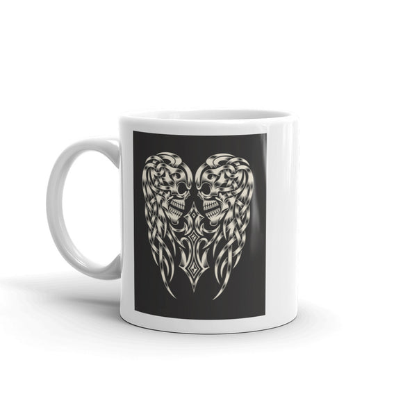 Skull Wings Scary Horror Halloween High Quality 10oz Coffee Tea Mug #7679