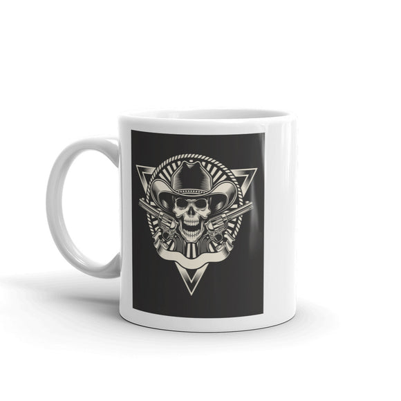 Skull And Guns Scary Horror Halloween High Quality 10oz Coffee Tea Mug #7681