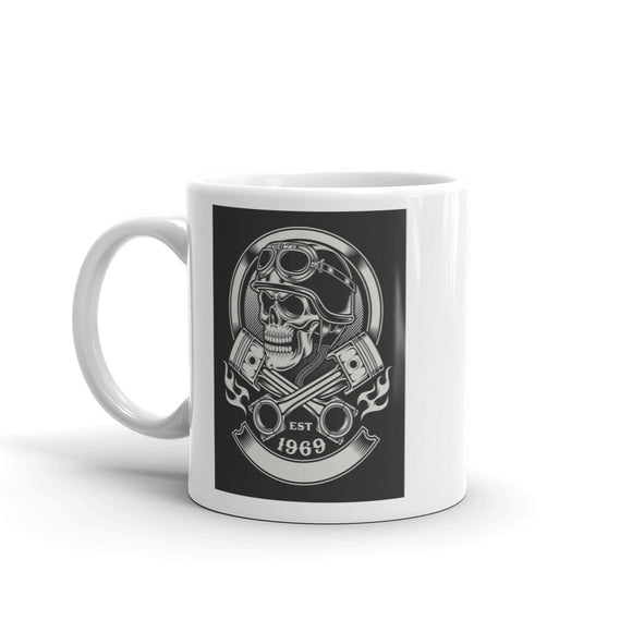 Skull And Pistons Scary Horror Halloween High Quality 10oz Coffee Tea Mug #7683