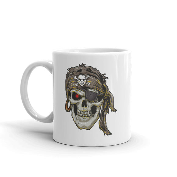 Pirate Skull Scary Horror Halloween High Quality 10oz Coffee Tea Mug #7693