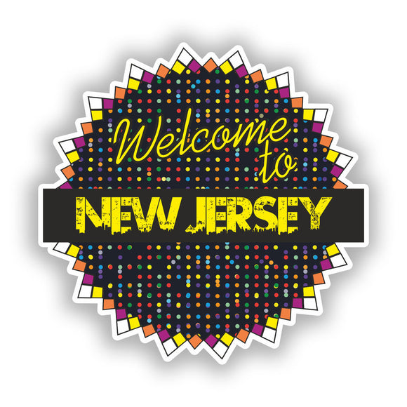 2 x Welcome To New Jersey Vinyl Stickers Travel Luggage #7726