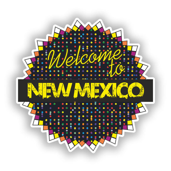 2 x Welcome To New Mexico Vinyl Stickers Travel Luggage #7727