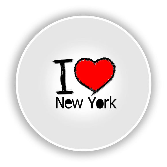 2 x I Love New York Vinyl Stickers Travel Luggage #7752