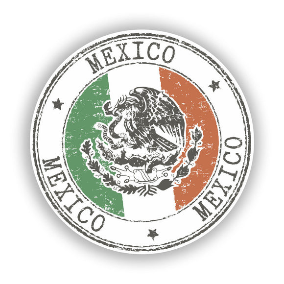 2 x Mexico Vinyl Stickers Travel Luggage #7758