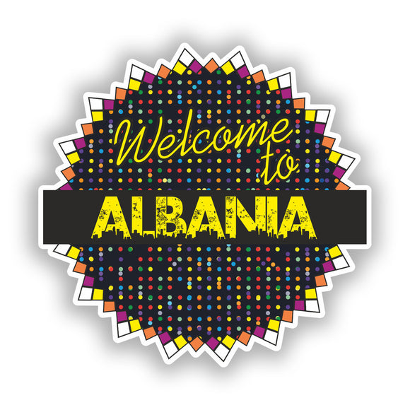 2 x Welcome To Albania Vinyl Stickers Travel Luggage #7775