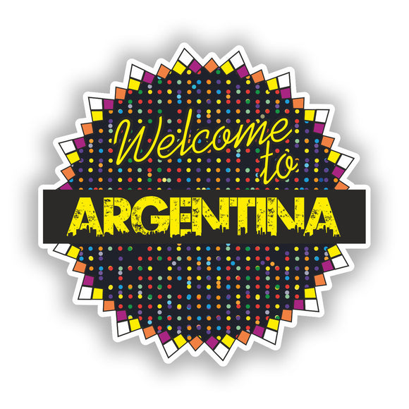 2 x Welcome To Argentina Vinyl Stickers Travel Luggage #7780