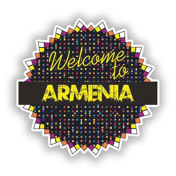 2 x Welcome To Armenia Vinyl Stickers Travel Luggage #7781