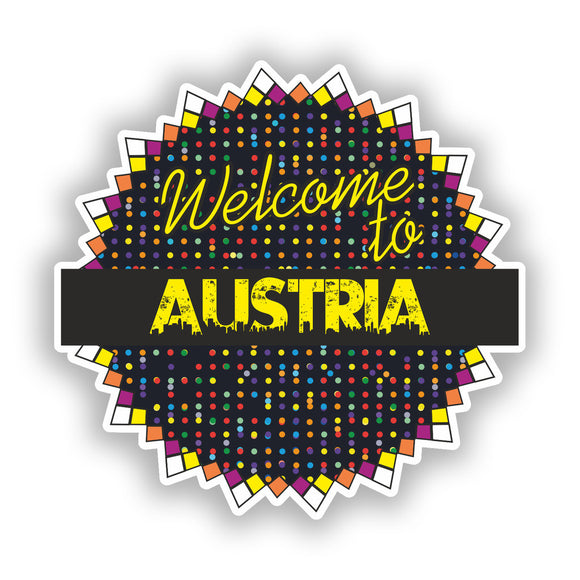 2 x Welcome To Austria Vinyl Stickers Travel Luggage #7784