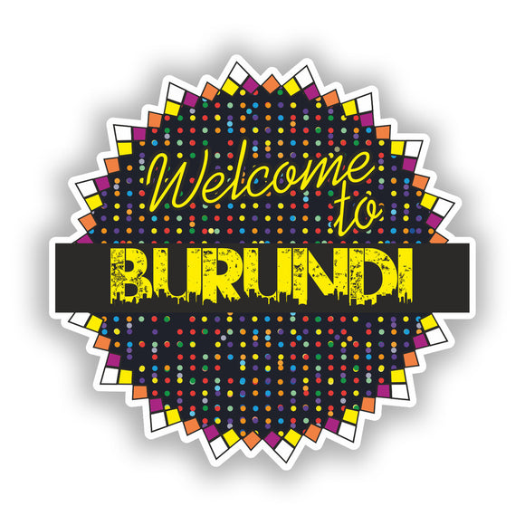 2 x Welcome To Burundi Vinyl Stickers Travel Luggage #7803