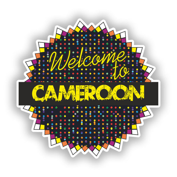 2 x Welcome To Cameroon Vinyl Stickers Travel Luggage #7805
