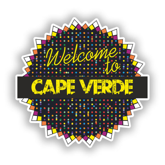 2 x Welcome To Cape Verde Vinyl Stickers Travel Luggage #7807