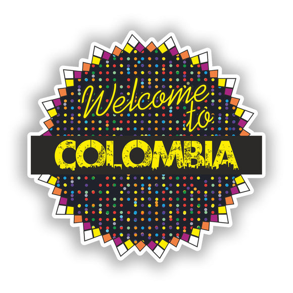 2 x Welcome To Colombia Vinyl Stickers Travel Luggage #7812
