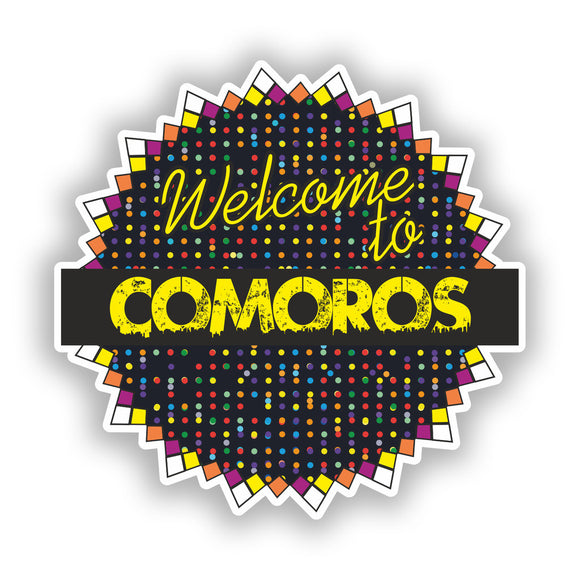 2 x Welcome To Comoros Vinyl Stickers Travel Luggage #7813