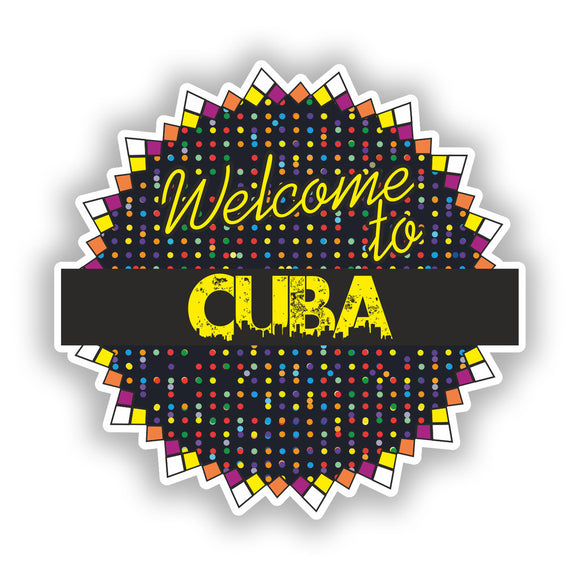 2 x Welcome To Cuba Vinyl Stickers Travel Luggage #7817
