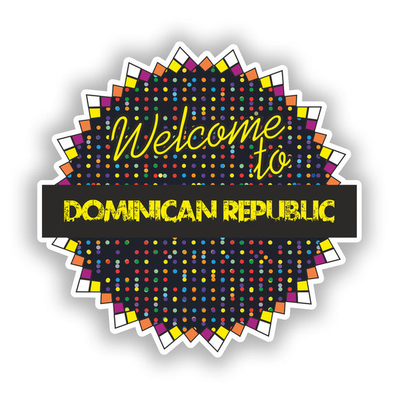 2 x Welcome To Dominican Republic Vinyl Stickers Travel Luggage #7824