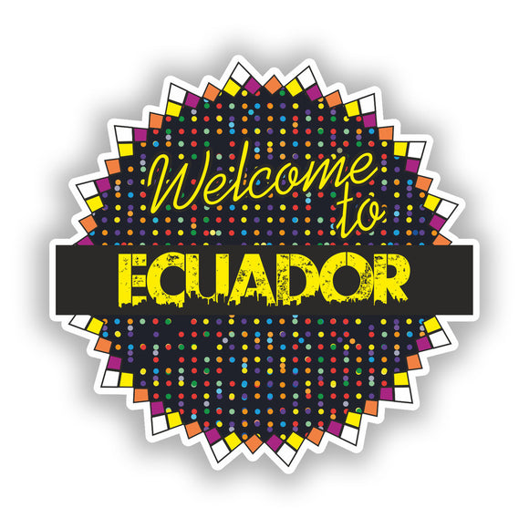 2 x Welcome To Ecuador Vinyl Stickers Travel Luggage #7825