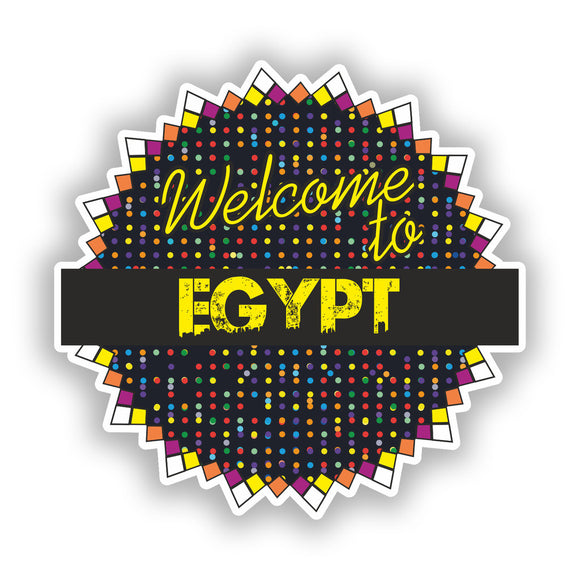2 x Welcome To Egypt Vinyl Stickers Travel Luggage #7826