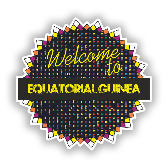 2 x Welcome To Equatorial Guinea Vinyl Stickers Travel Luggage #7828