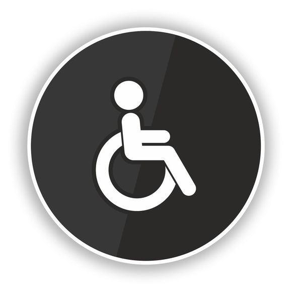 2 x Disabled Toilet Sign Vinyl Stickers Door Business #7841