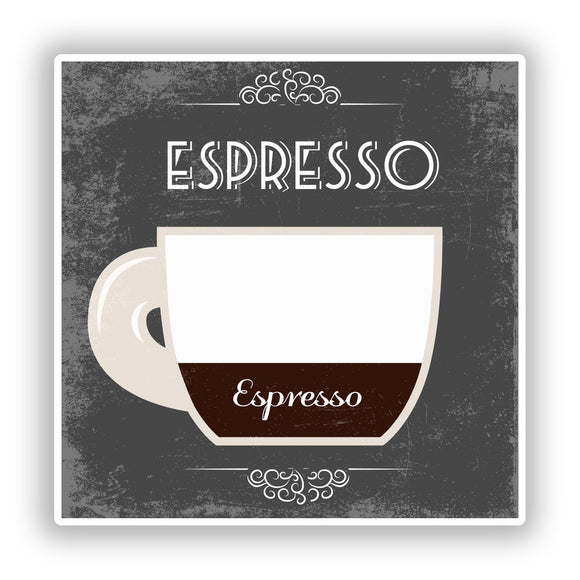 2 x Espresso Coffee Shop Vinyl Sticker Business #7976