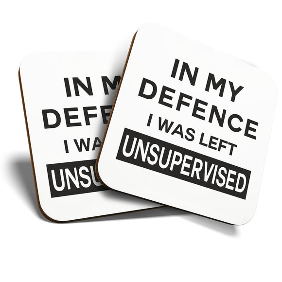 Great Coasters (Set of 2) Square / Glossy Quality Coasters / Tabletop Protection for Any Table Type - Funny Quote Joke Office  #8225