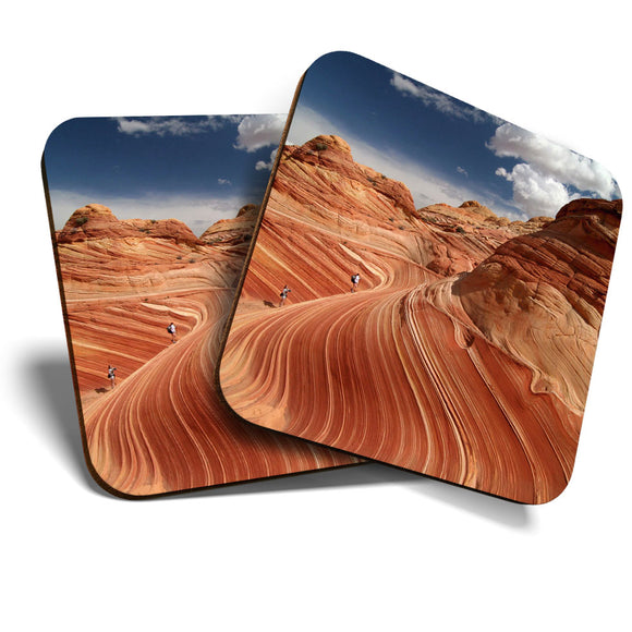 Great Coasters (Set of 2) Square / Glossy Quality Coasters / Tabletop Protection for Any Table Type - Paria Canyon Utah USA America  #8231