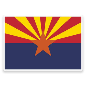 2 x Arizona Flag Vinyl Sticker  #9004
