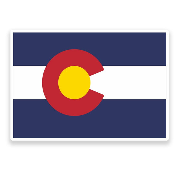 2 x Colorado Flag Vinyl Sticker  #9007