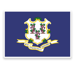 2 x Connecticut Flag Vinyl Sticker  #9008