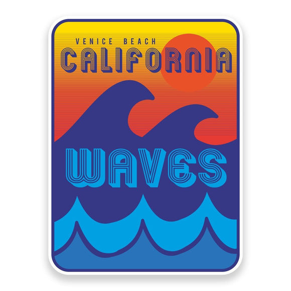 2 x California Venice Beach Vinyl Sticker  #9015