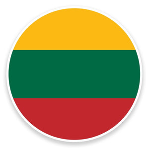 2 x Lithuania Flag Map Vinyl Sticker  #9016