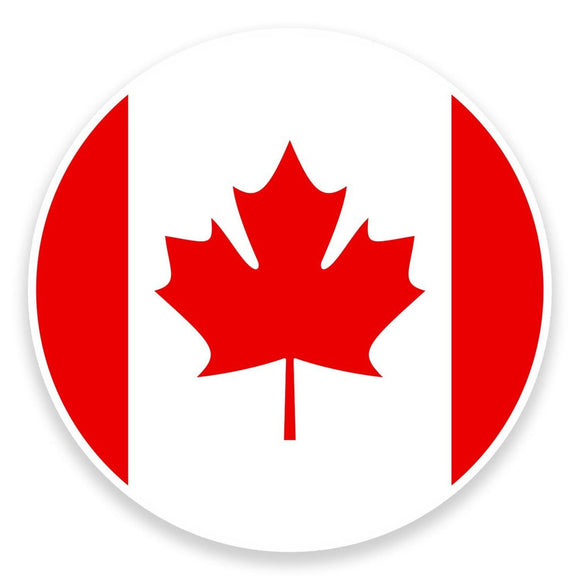 2 x Canada Flag Map Vinyl Sticker  #9017