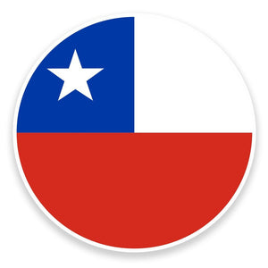 2 x Chile Flag Map Vinyl Sticker  #9018