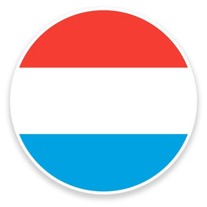 2 x Luxembourg Flag Map Vinyl Sticker  #9025