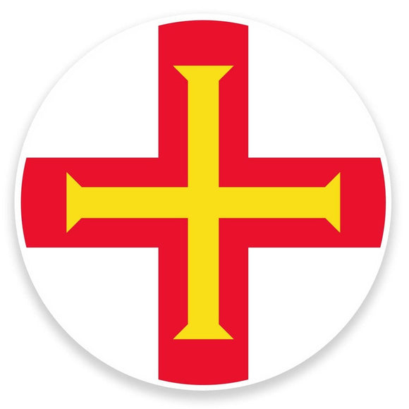 2 x Guernsey Flag Map Vinyl Sticker  #9029