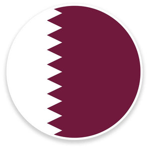 2 x Qatar Doha Flag Map Vinyl Sticker  #9033