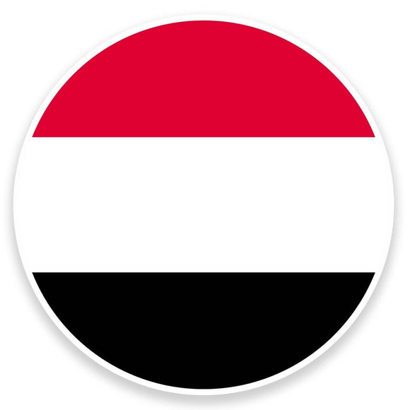 2 x Yemen Flag Map Vinyl Sticker  #9040