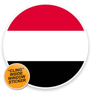 2 x Yemen Flag Map WINDOW CLING STICKER Car Van Campervan Glass #9040