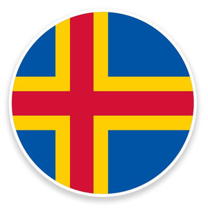 2 x Aland Flag Map Vinyl Sticker  #9041