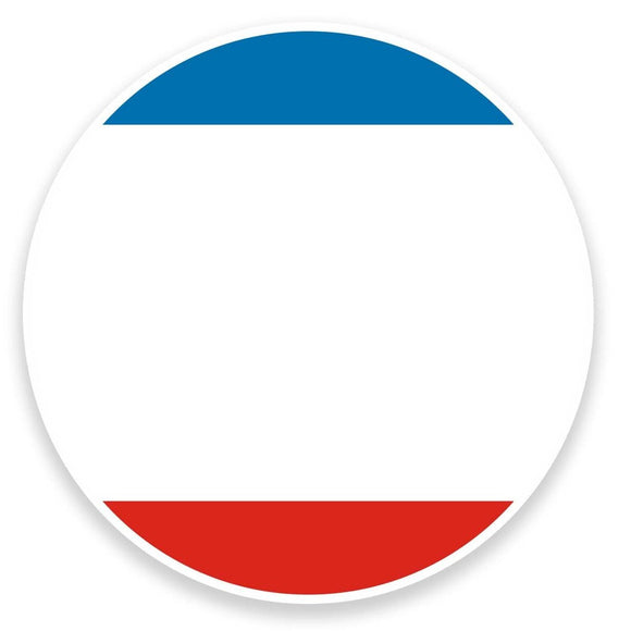 2 x Crimea Flag Map Vinyl Sticker  #9042
