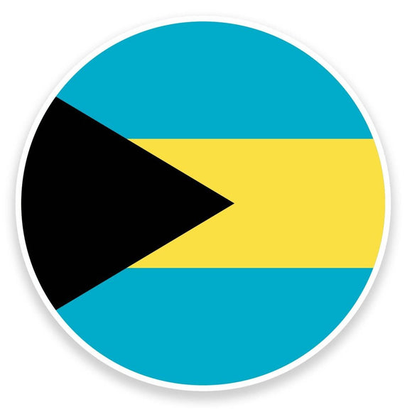 2 x Bahamas Flag Map Vinyl Sticker  #9048