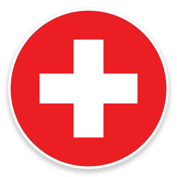 2 x Switzerland Flag Map Vinyl Sticker  #9063
