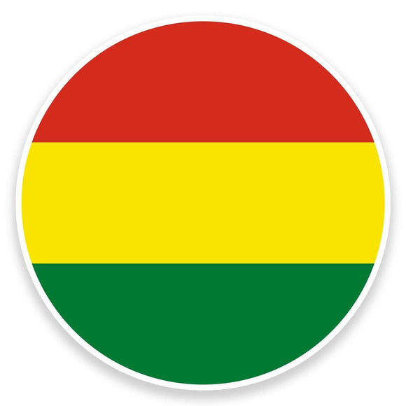 2 x Bolivia Flag Map Vinyl Sticker  #9064