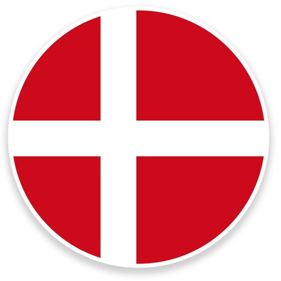 2 x Denmark Flag Map Vinyl Sticker  #9065