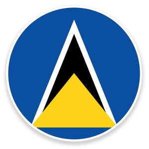 2 x Saint Lucia Flag Map Vinyl Sticker  #9068