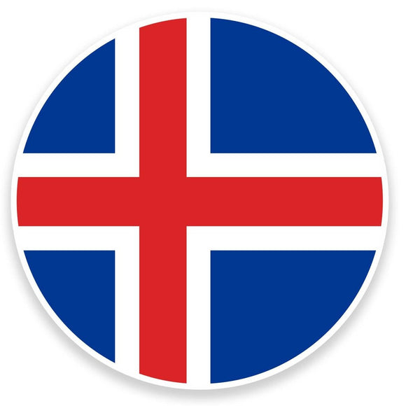 2 x Iceland Flag Map Vinyl Sticker  #9069