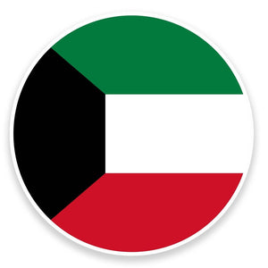 2 x Kuwait Flag Vinyl Sticker  #9073