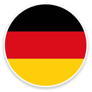 2 x German Flag Vinyl Sticker  #9076