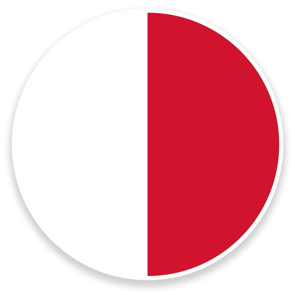 2 x Malta Flag Vinyl Sticker  #9078
